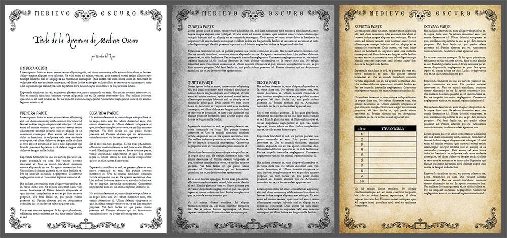 kit para maquetar tus aventuras de rol para Medievo Oscuro